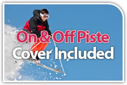 On and off piste insurance cover included